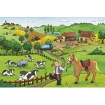 12 pc Ravensburger Puzzle - Working on the Farm  2x12 pc