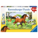 24 pc Ravensburger - World of Horses Puzzle  2x24 pc