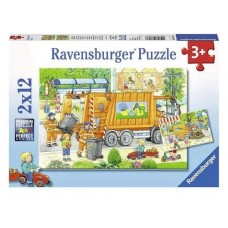 12 pc Ravensburger Puzzle - Street Cleaning  2x12 pc