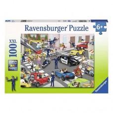100 pc Ravensburger Puzzle - Police on Patrol XXL Pieces