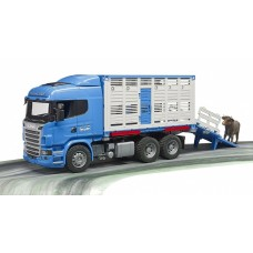 Cattle Transporter Truck - Scania R-Series - with cow  - Bruder 03549