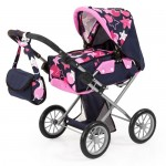 Pram Dolls  - City Star Dark Blue Stars & Circles - Bayer