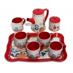 Tea Set Tin - Red Garden