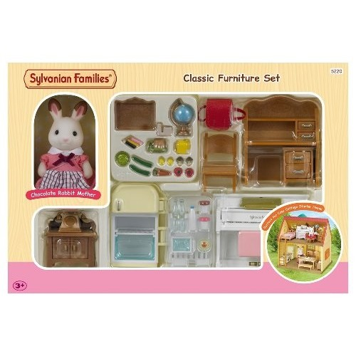 Sylvanian families classic furniture set from who what why for Sylvanian classic furniture set