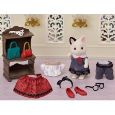Sylvanian Families - Fashion Playset - Town Girl Tuxedo Cat NEW in 2020 COMING SOON