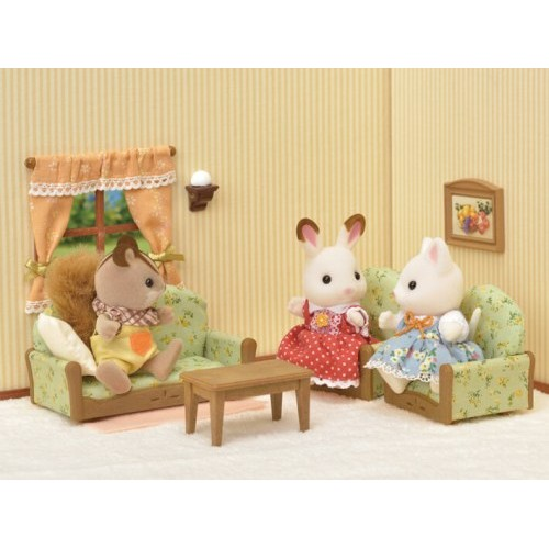 sylvanian families living room tv set from who what why. Black Bedroom Furniture Sets. Home Design Ideas