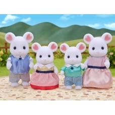 Sylvanian Families - Marshmallow White Mouse Family New in 2018