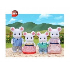 Sylvanian Families - Marshmallow White Mouse Family New in 2018