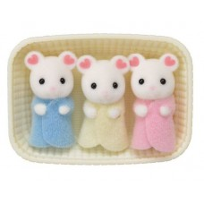 Sylvanian Families - Marshmallow White Mouse Triplets New in 2018