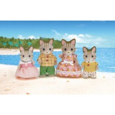 Sylvanian Families - Striped Cat Family *