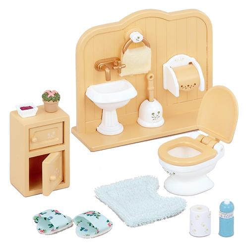 Sylvanian families toilet set from who what why for Washroom set
