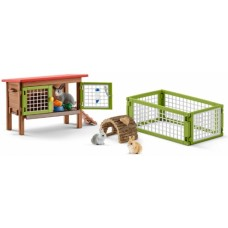Bunny House / Rabbit Hutch - Schleich 42420   NEW in 2018