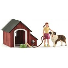 Dog Kennel Set - Schleich 42376