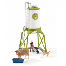 Feed Silo with Animals - Schleich 41429