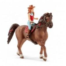 Hannah & Cayenne - Quarter Horse Gelding - Schleich Horse Club 42514