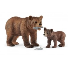 Bear Grizzly with Cub - Schleich 42473 NEW in 2019