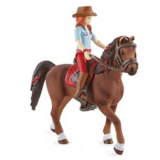 Hannah & Cayenne - Quarter Horse Gelding - Moveable - Schleich Horse Club 42539 NEW 2021 Available September 2021
