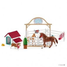 Hannah's Guest Horses with Ruby the Dog - Schleich Horse Club 42458