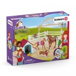 Hannah's Guest Horses with Ruby the Dog - Schleich 42458   NEW in 2019