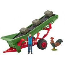 Hay Conveyor with Farmer - Schleich 42377