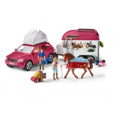 Horse Adventures with Car and Trailer - Schleich Horse Club 42535 NEW in 2021 Available October 2021