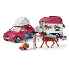 Horse Adventures with Car and Trailer - Schleich 42535 Available September 2021