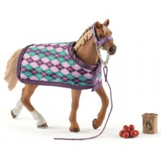 Horse - English Thoroughbred with blanket - Schleich 42360