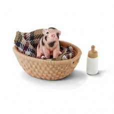 Mini Pig with Bottle - Schleich Farm Life Accessory 42294