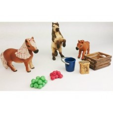 Miniature Shetland Pony Family Set - Schleich 41432