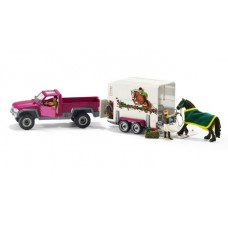 Pick Up With Horse Box - Schleich 42346