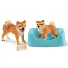Dog - Shiba Inu Mother & Puppy - Schleich 42479  NEW for 2019
