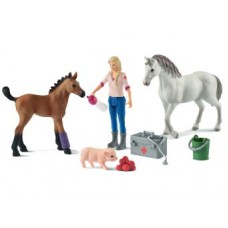 Vet Visiting Mare & Foal - Schleich 42486  NEW in 2019