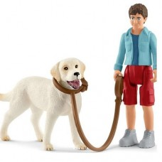 Dog - Walking with Labrador Retriever - Schleich 42478  NEW for 2019