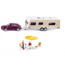 Car with Caravan - Siku 2542