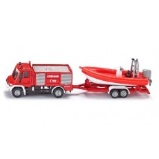 Fire Engine  with Boat - Siku 1636