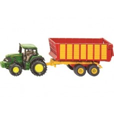 Tractor John Deere with Silage Trailer - Siku 1650