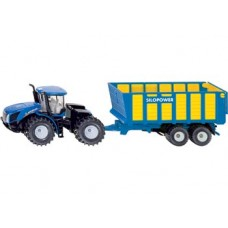 Tractor New Holland Knicklenker with Silage Trailer - Siku 1947