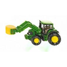 Tractor - John Deere with Bale Gripper - Siku 1379