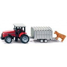 Tractor with Stock Trailer - Siku 1640