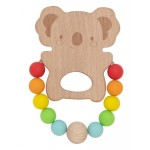Koala Wooden & Silicone Teether - Tiger Tribe