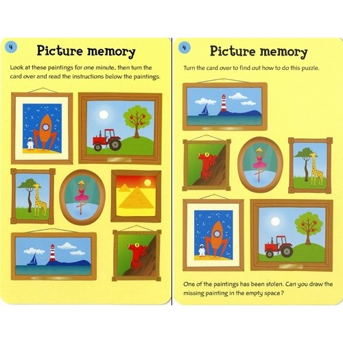 Brain Puzzles Activity Cards - Usborne - from who what why
