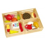 Food Wooden - 4 crates - Viga Toys